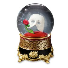 Phantom of the Opera Classic Mask with Rose Water Globe