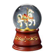 Heritage Rotating Single Horse Water Globe Figurine