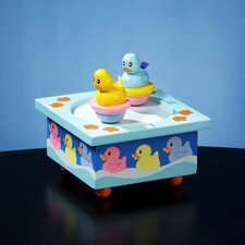 Twirlytunes Rubber Ducky Wooden Music Box