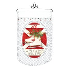 <strong>Heritage Lace</strong> Welcome Winter Wall Decor
