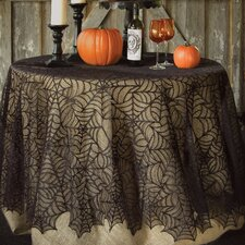 Spider Web Round Tablecloth