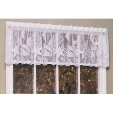 Seascape Rod Pocket Scalloped Curtain Valance
