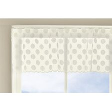 Polka Dot Curtain Valance