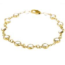 Crystal Chain Link Bracelet