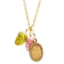 Metal Gemstone Pendant Necklace
