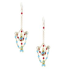 Chandelier Turquoise Drop Earrings