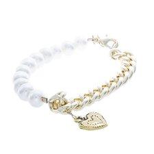 Heart Pearl Charm Bracelet