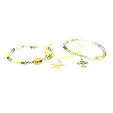 3 Piece Swarovski Charm Bracelet Set