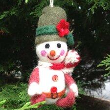 Felt Smiling Snowman