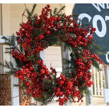 Aw Cedar and Berry Wreath
