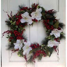 Amarylis and Berry Wreath