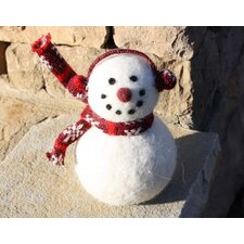 Wooly Snowman with Scarf