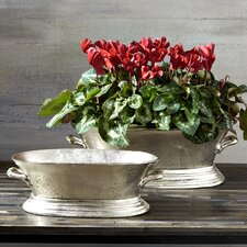 Cornucopia 2 Piece Oval Planter Set