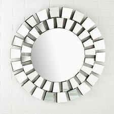 Sunburst Facets Wall Mirror