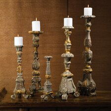 5 Piece Renaissance Candlesticks Set