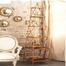 <strong>Two's Company</strong> Golden Bamboo™ 5 Shelf Stackable Tower