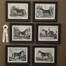 Grand Champion™ Horse 6 Piece Framed Painting Print Set