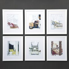 Dransfield Neutral Scenes 6 Piece Framed Painting Print Set