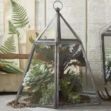 <strong>Two's Company</strong> Take a Cover Hexagonal Plant Terrarium Cloche