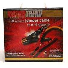 <strong>Motor Trend</strong> 12 Ft. Jumper Cables, 4 Gauge