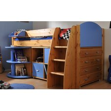 Rondo Mid Sleeper with 4 Drawer Chest, Cube Unit and Extending Desk