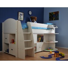 Rondo Mid Sleeper Bed with 8 Cube Unit and Extending Desk