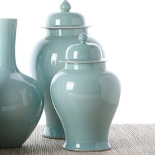 2 Piece La Mer Covered Temple Decorative Urn Set