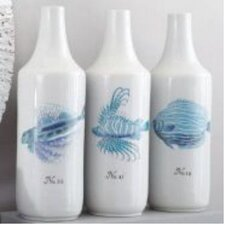 3 Piece La Mer Coral Fish Vase Set (Set of 3)