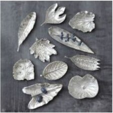 Platinum Large Foliage Dishes (Set of 10)