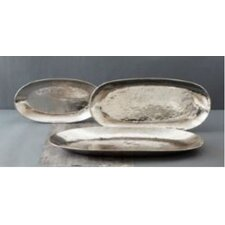 Platinum Hundred Suns Oval Trays (Set of 3)