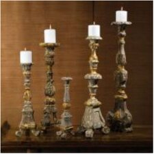 Globetrotter Renaissance Candlestick with Gold Accents (Set of 5)