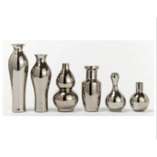 6 Piece Platinum Vase Set (Set of 6)