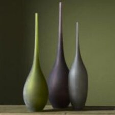 3 Piece Hummingbird Vase Set