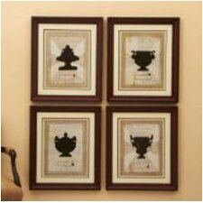 Franco Carrai Via Santo Spirito 4 Piece Framed Painting Print Set