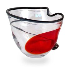 Scarlet Orchid Bowl in Red