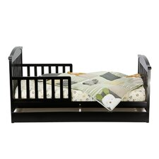 <strong>Dream On Me</strong> Mission Toddler Bed with Storage Drawer in Black