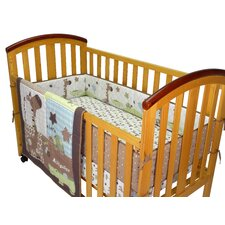 Safari Animals 3 Piece Crib Bedding Set