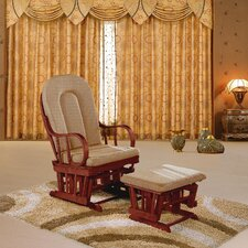Colonial Padded Glider and Ottoman