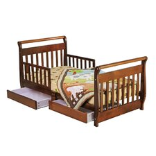 <strong>Dream On Me</strong> Sleigh Toddler Bed with Storage Drawer