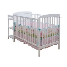 2-in-1 Convertible Crib Set and Changing Table Combo