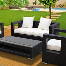<strong>Modway</strong> Lunar 5 Piece Deep Seating Group with Cushions