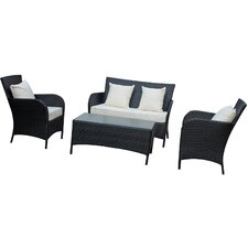 <strong>Modway</strong> 4 Piece Lounge Seating Group with Cushions