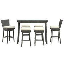 <strong>Modway</strong> Napa Outdoor 7 Piece Bar Set with Cushions