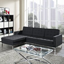 <strong>Modway</strong> Loft Wool Left Arm Sectional Sofa