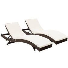 Peer Chaise Lounge with Cushion II (Set of 2)