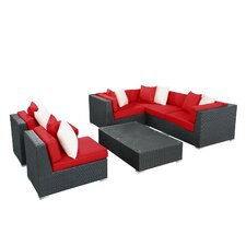 Lambid 7 Piece Deep Seating Group with Cushion