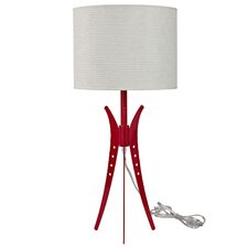 "Flair 25"" H Table Lamp with Drum Shade"