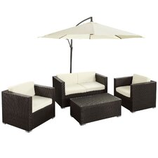 Fountain 5 Piece Deep Seating Group with Cushions