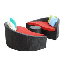 Magatama 3 Piece Lounge Seating Group with Cushion