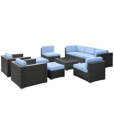 <strong>Modway</strong> Avia 10 Piece Deep Seating Group with Cushion